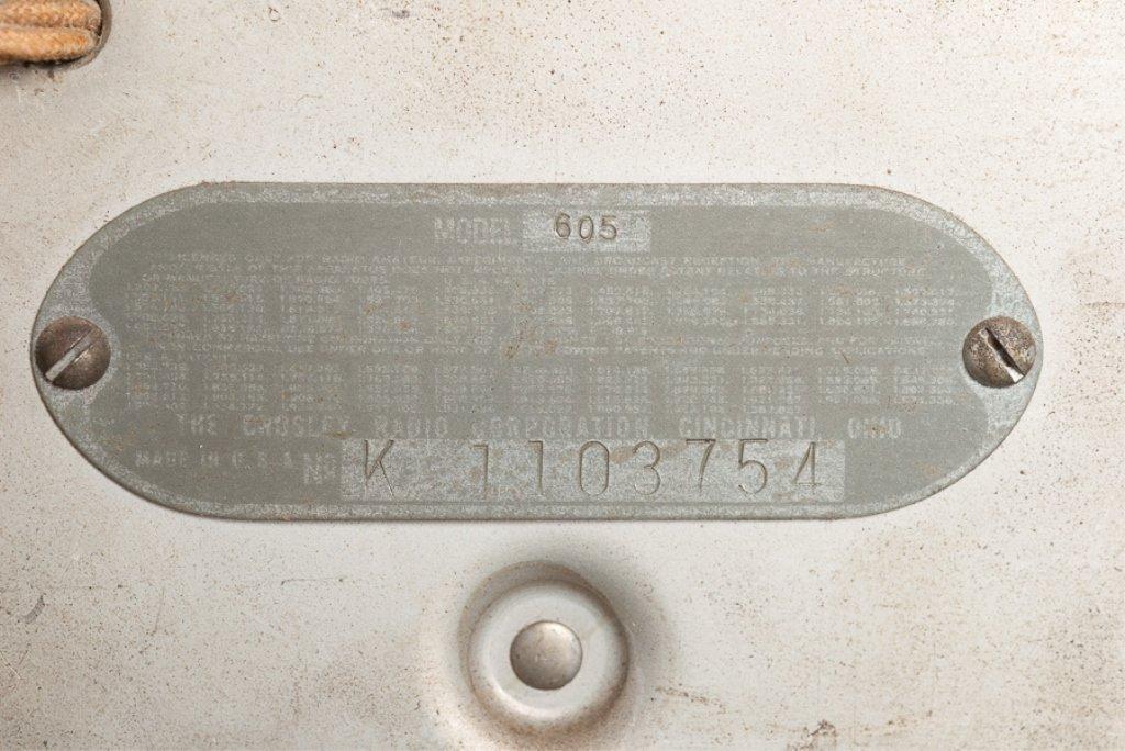 1930s Crosley Model 605 Tombstone Radio - 5