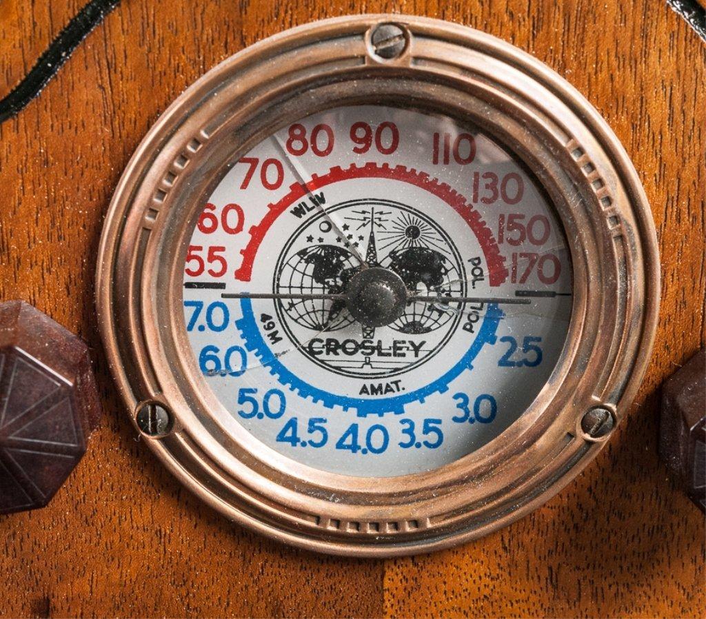 1930s Crosley Model 555 Tombstone Radio - 3