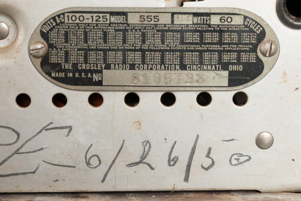 1930s Crosley Model 555 Tombstone Radio - 6