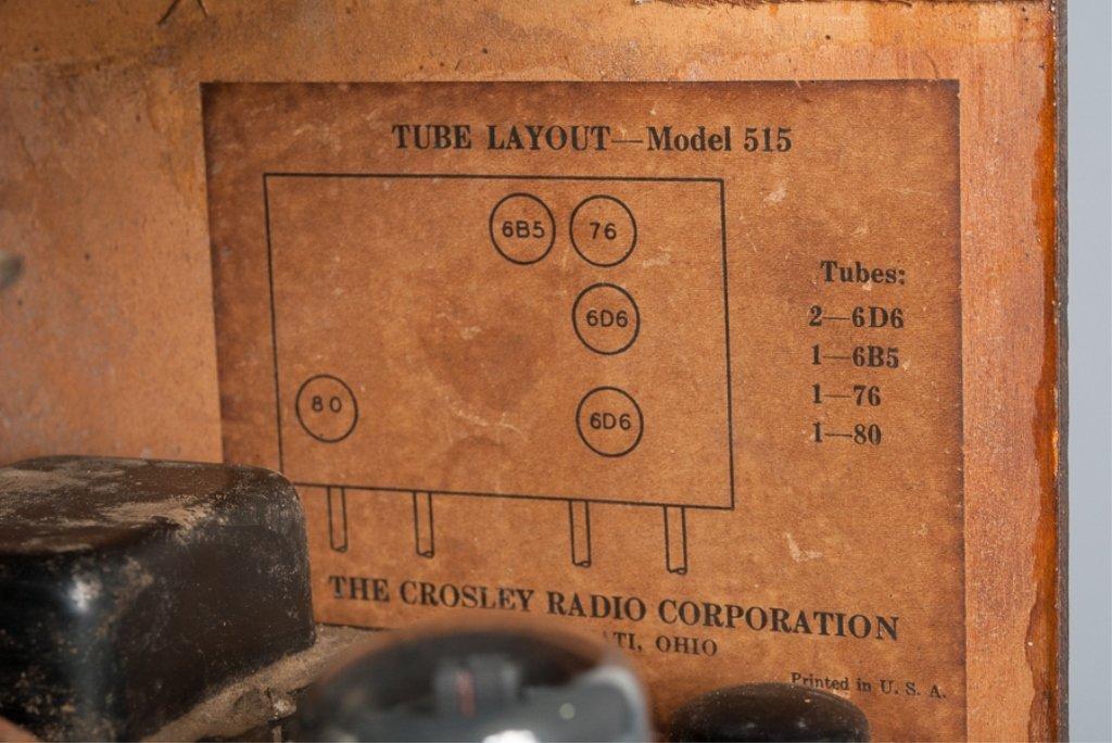 1930s Crosley Model 555 Tombstone Radio - 7