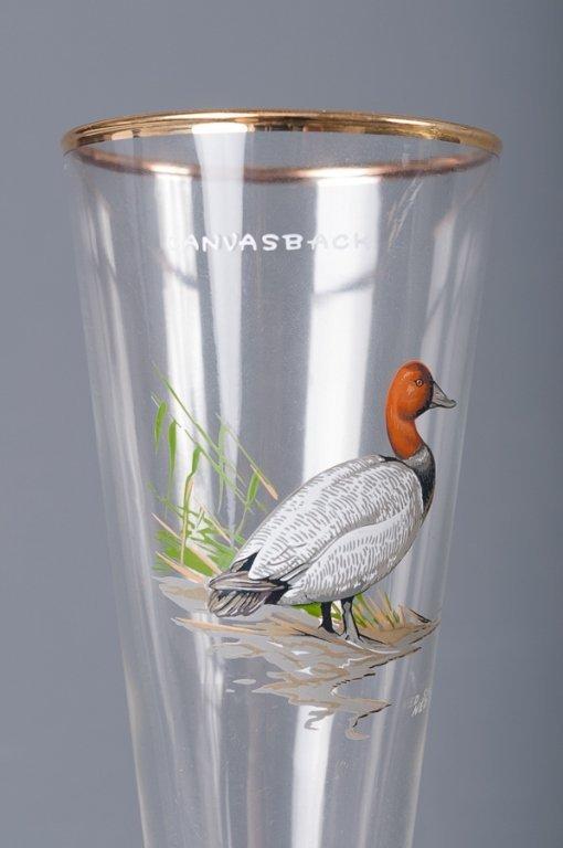 Ned Smith Pilsner Glasses, Eight (8) - 2