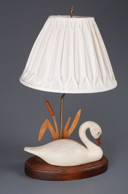 The Decoy Shop Swan Table Lamp