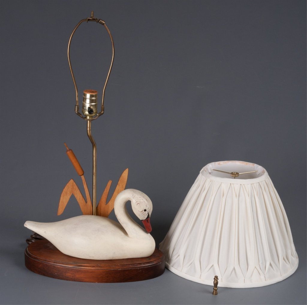 The Decoy Shop Swan Table Lamp - 6