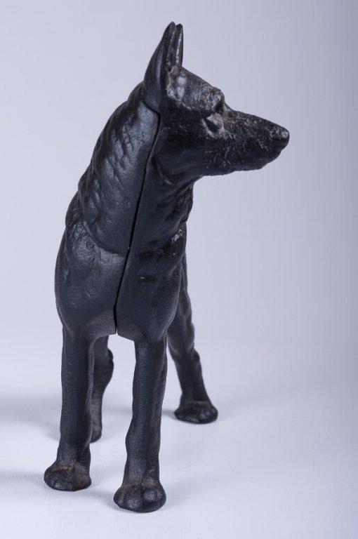 Reproduction Cast Iron German Shepherd Bank - 2