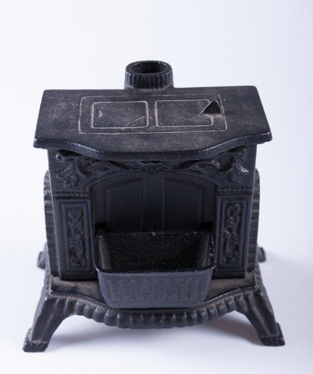 Reproduction Cast Iron Stove Banks, Two (2) - 4