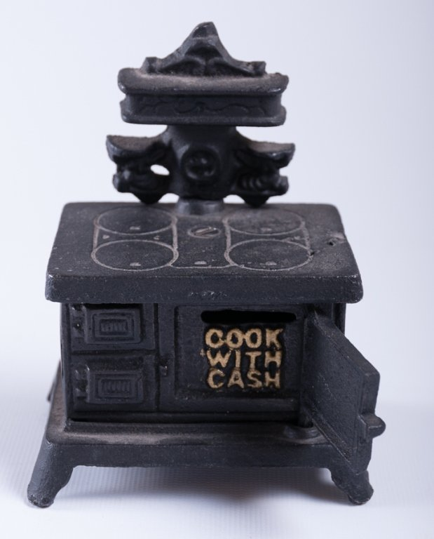 Reproduction Cast Iron Stove Banks, Two (2) - 5