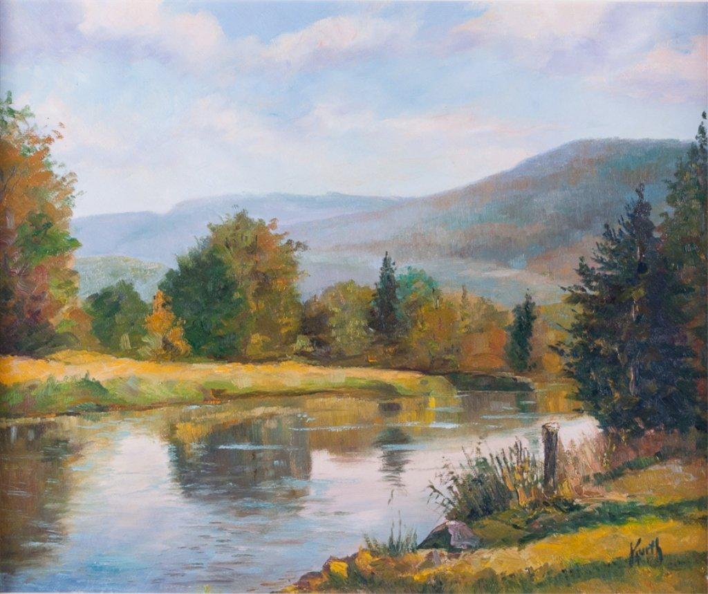 Otto Kurth Oil on Masonite Landscape