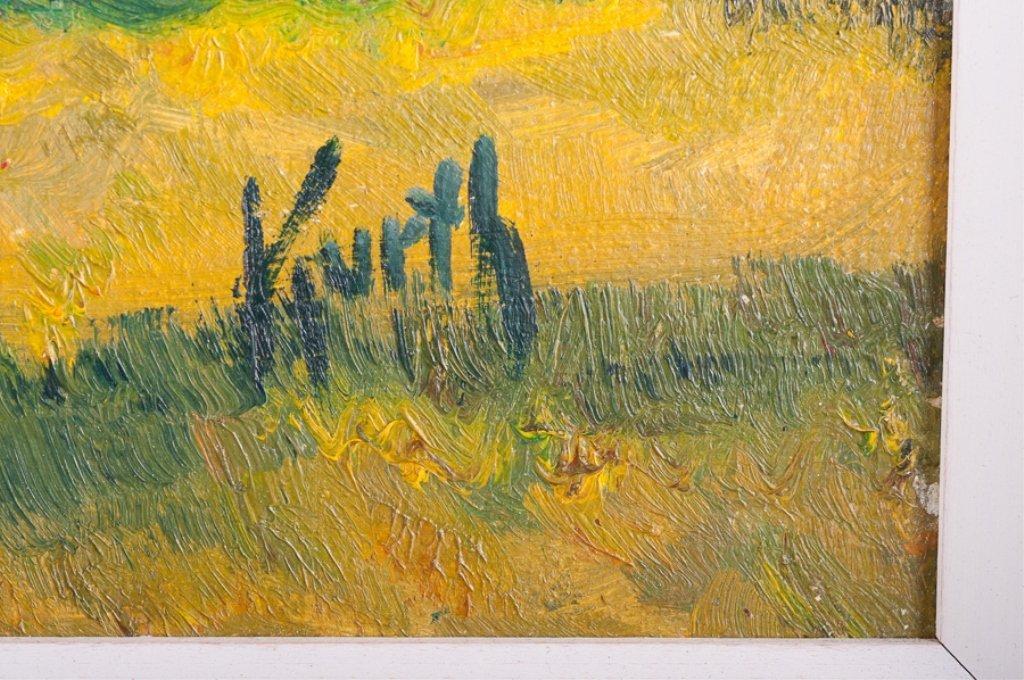 Otto Kurth Oil on Masonite Landscape - 3