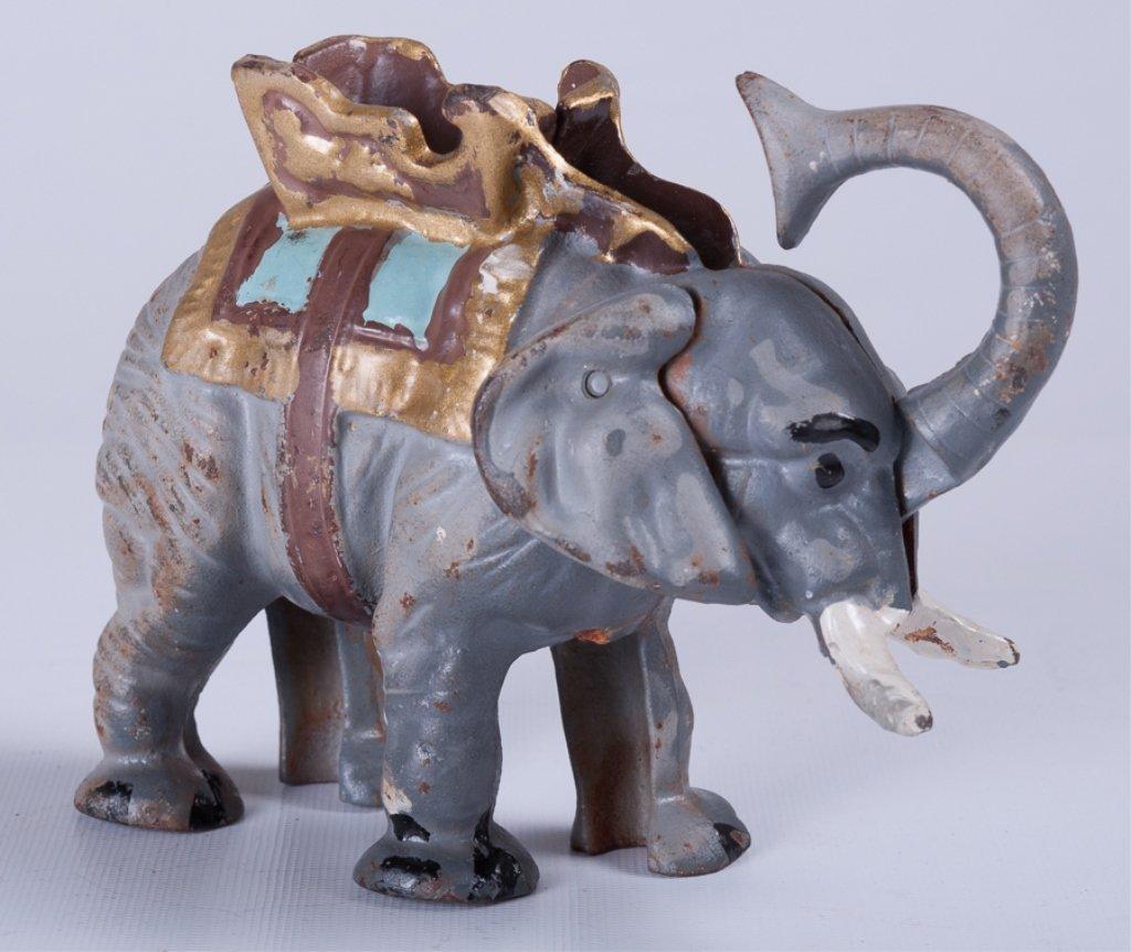 Vintage Cast Iron Elephant Bank