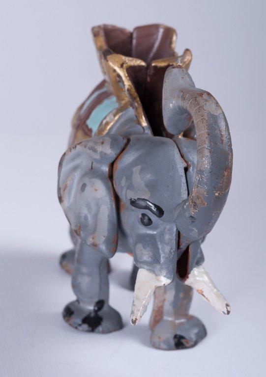 Vintage Cast Iron Elephant Bank - 2