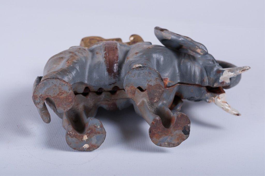 Vintage Cast Iron Elephant Bank - 5
