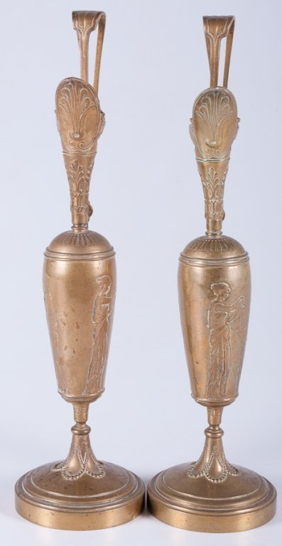 Tiffany & Co. Brass Ewers/ Garnitures, Pair - 3