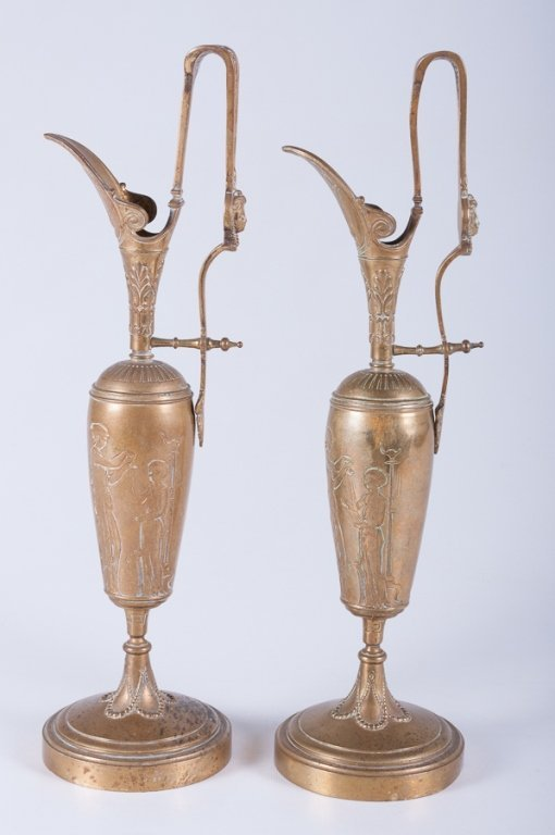 Tiffany & Co. Brass Ewers/ Garnitures, Pair - 4