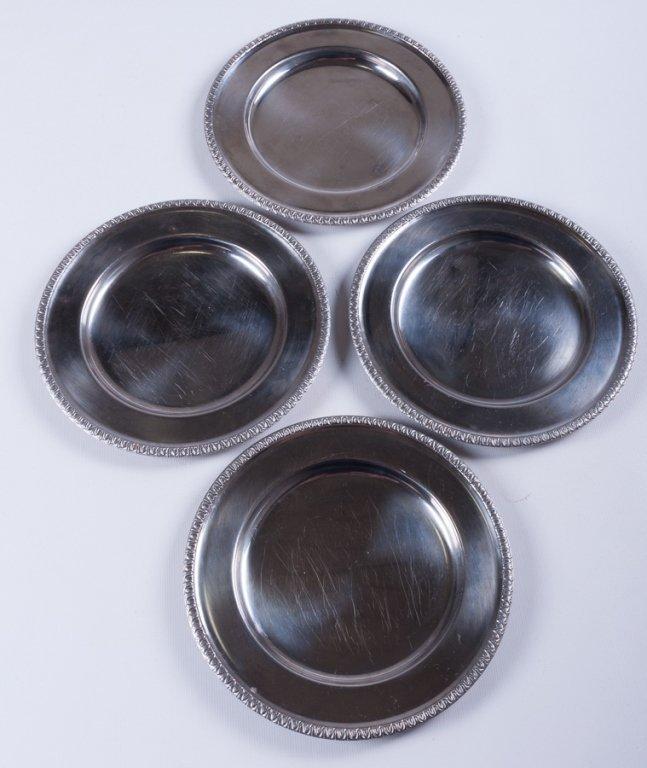 Metal Dessert Plates/ Small Chargers, Twenty-One - 2