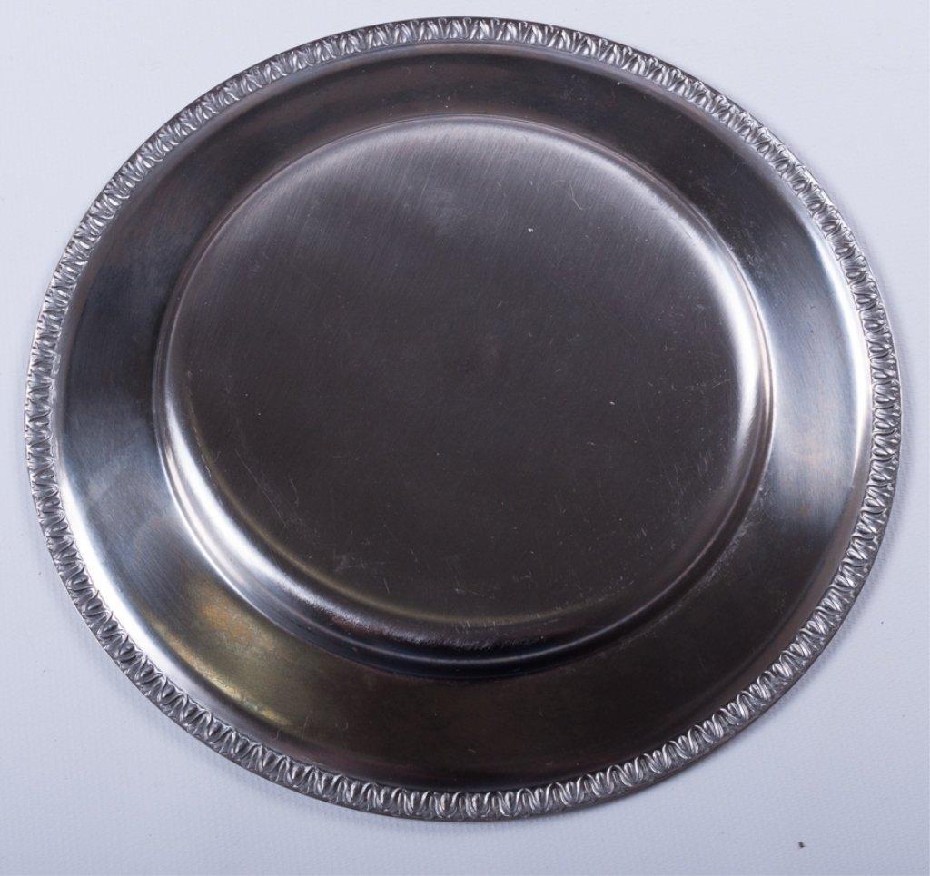 Metal Dessert Plates/ Small Chargers, Twenty-One - 3