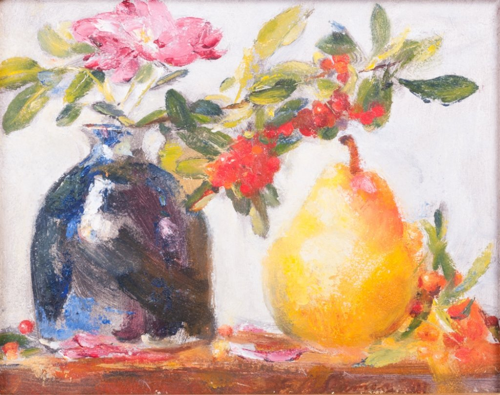 "Elizabeth James-Williams ""Still Life with Pear"""