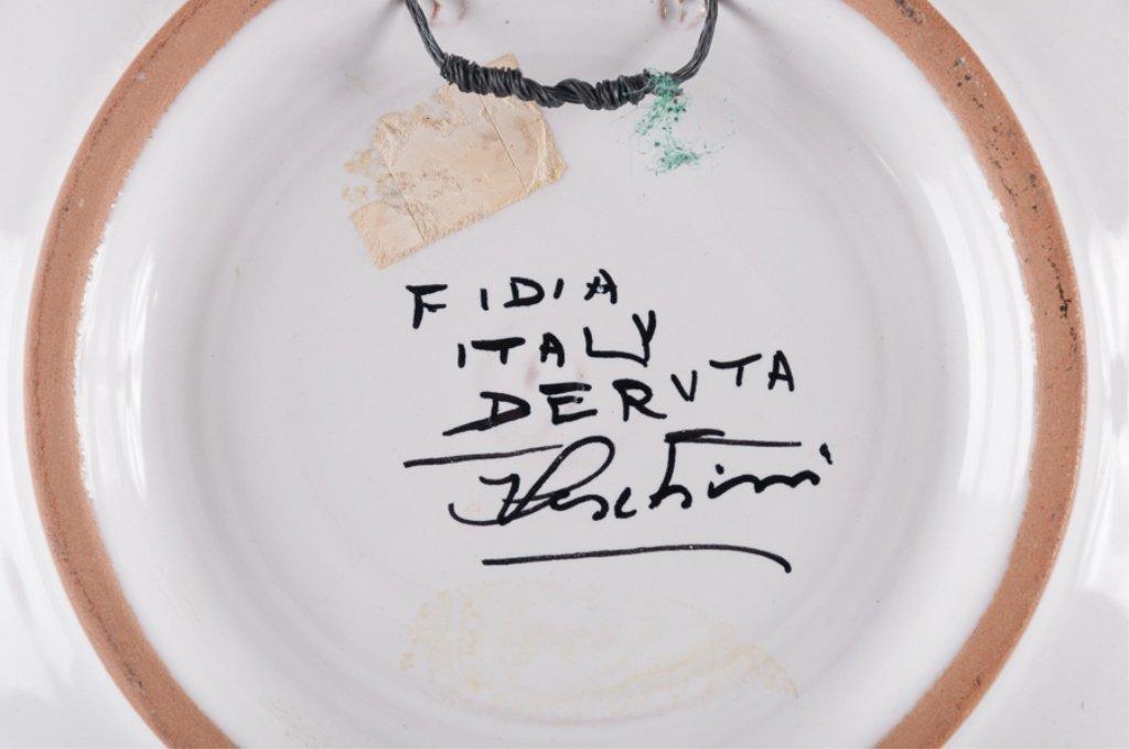 Signed Fidia Italy Deruta Plates, Pair - 6