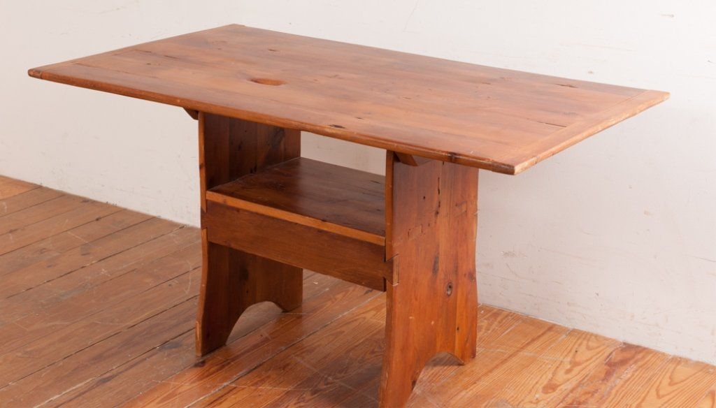 Bench Crafted Pine Hutch Table
