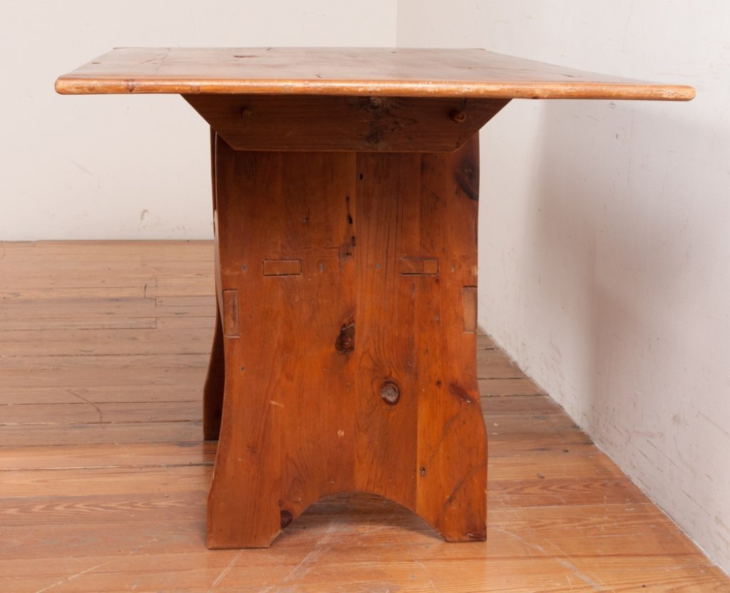 Bench Crafted Pine Hutch Table - 3