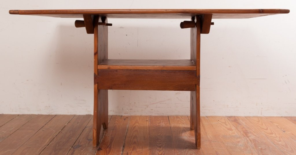 Bench Crafted Pine Hutch Table - 4