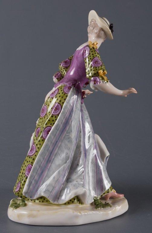 Nymphenburg Porcelain Figure, Woman & Dog - 4