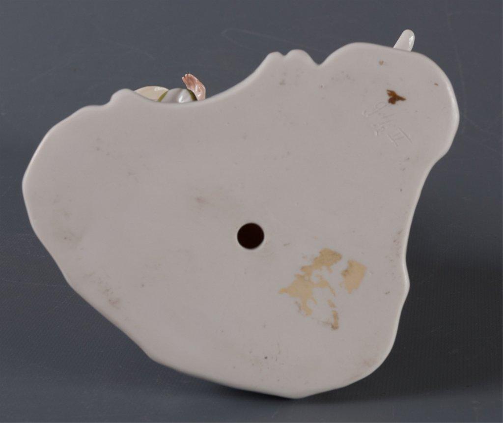 Nymphenburg Porcelain Figure, Woman & Dog - 6