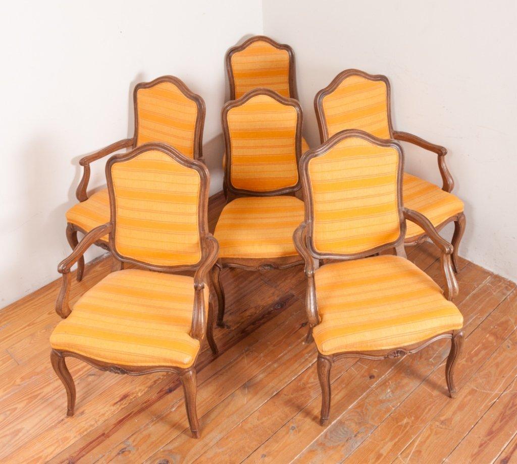 John Stuart Upholstered Dining Chairs, Six (6)