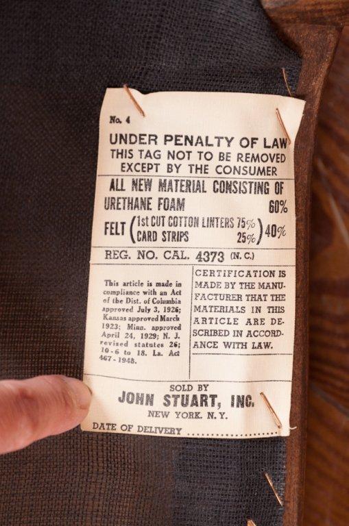 John Stuart Upholstered Dining Chairs, Six (6) - 3