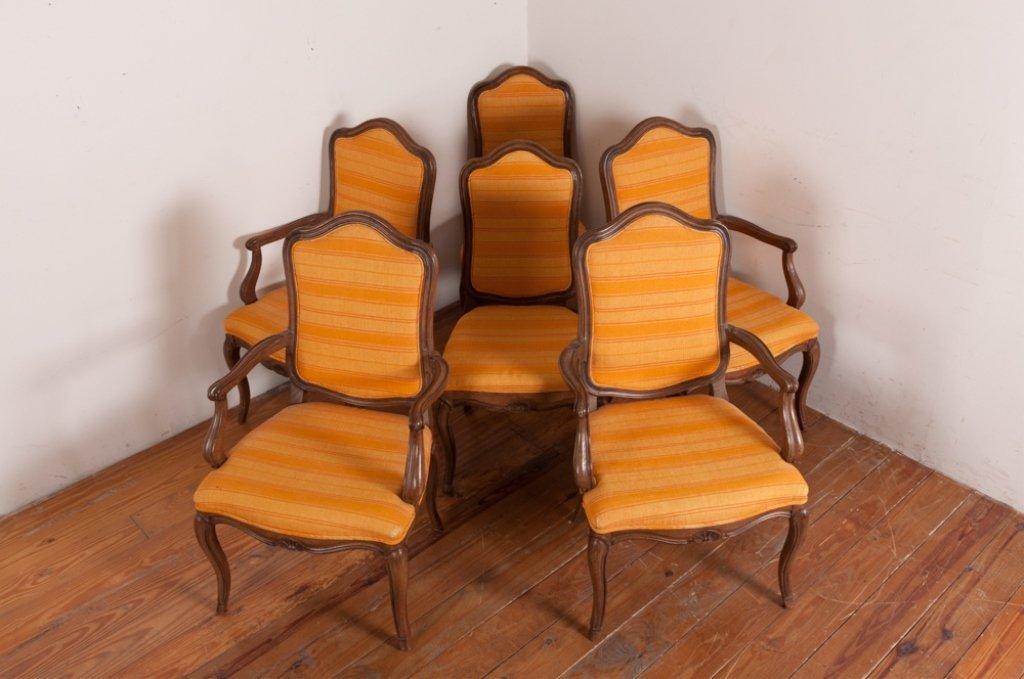John Stuart Upholstered Dining Chairs, Six (6) - 4