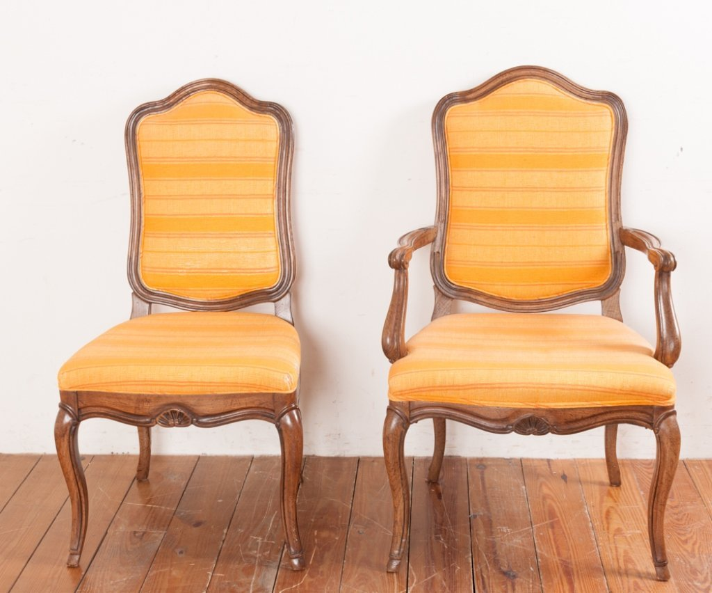 John Stuart Upholstered Dining Chairs, Six (6) - 5