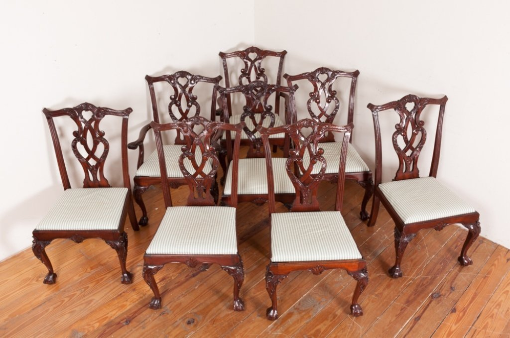 Queen Anne Style Dining Room Chairs - 3