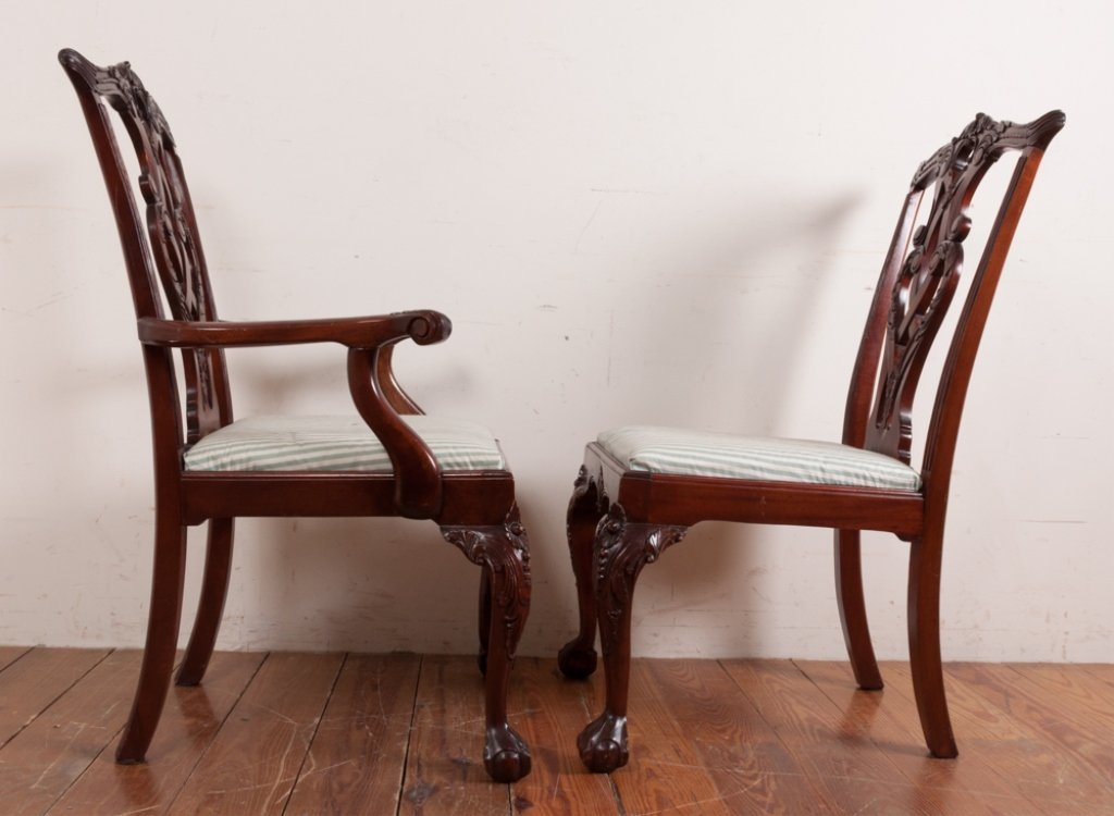 Queen Anne Style Dining Room Chairs - 7