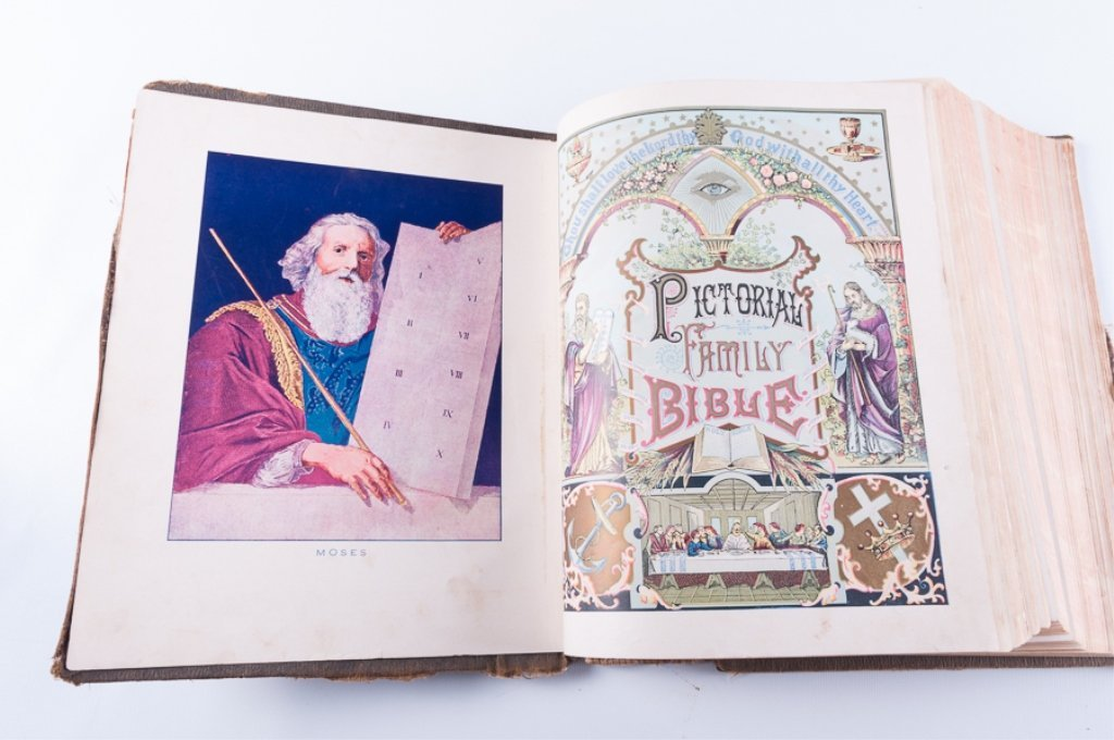 Leather Bound Holy Bibles, Two (2) - 3