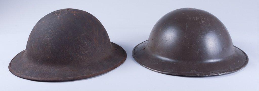 WWI American Doughboy Helmets, Two (2) - 2