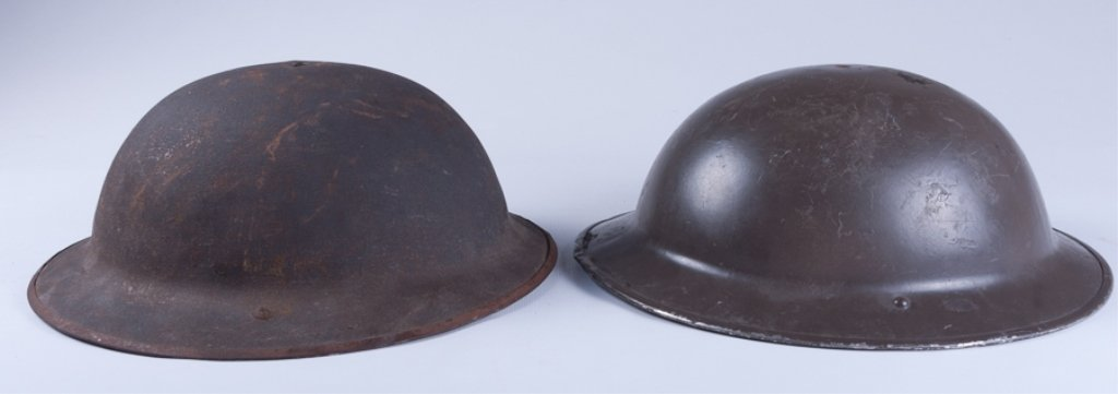 WWI American Doughboy Helmets, Two (2) - 3