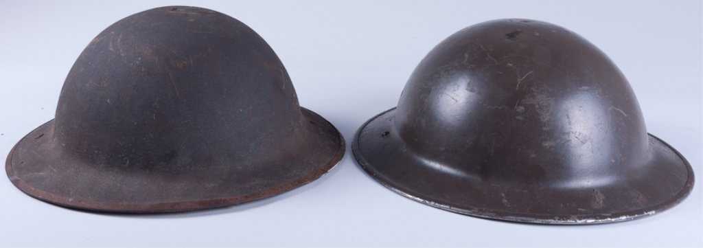 WWI American Doughboy Helmets, Two (2) - 4