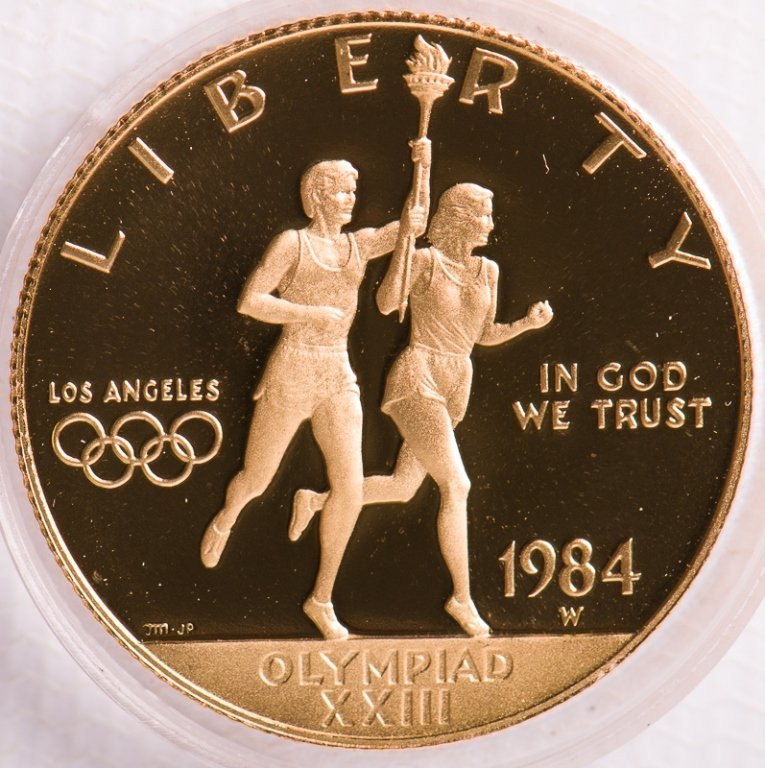 1984 United States $10 Olympic Gold Coin