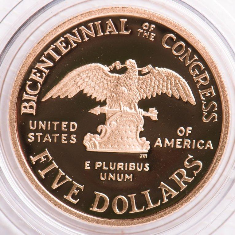 1989 United States Commemorative Gold $5 Coin - 2