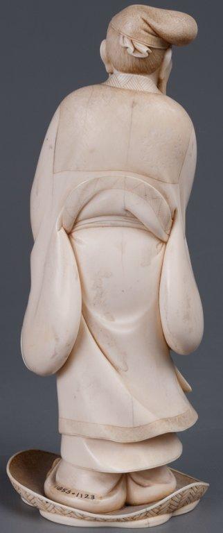Chinese Bone Carving, Man w/ Staff - 8
