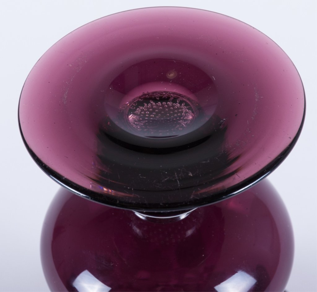Pairpoint Rolled Rim Glass Vase - 6