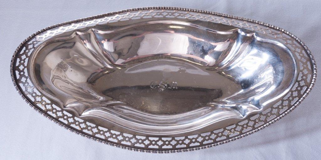 Meriden Sterling Silver Pierced Serving Dish