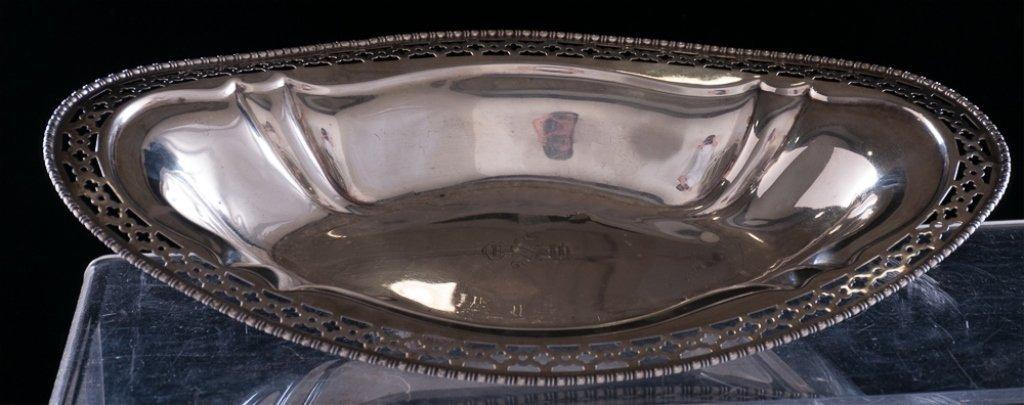 Meriden Sterling Silver Pierced Serving Dish - 2