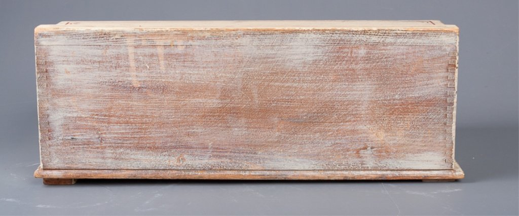 Antique Roll-Top Wooden Bread Box - 4