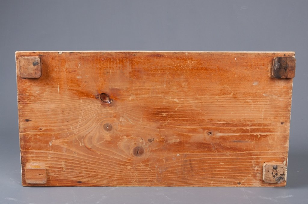 Antique Roll-Top Wooden Bread Box - 6