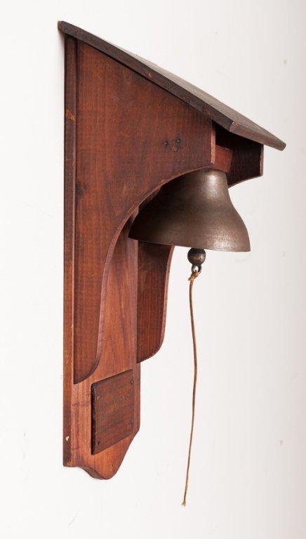 Antique Wooden Dinner Bell w/ Byron Poem - 4
