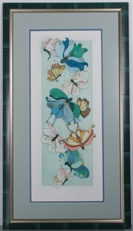 """Oh But to Fly"" Christine Kennedy Signed Litho - 2"