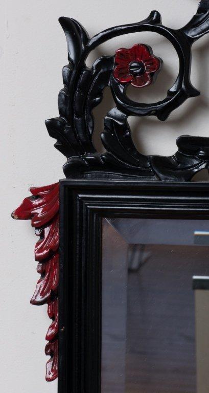 Beveled Mirror w/ Carved Frame - 4