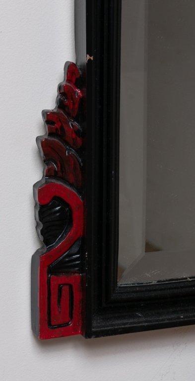 Beveled Mirror w/ Carved Frame - 5