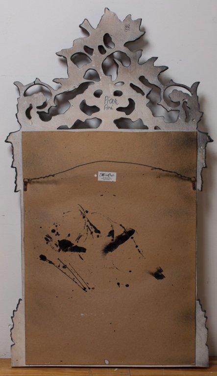 Beveled Mirror w/ Carved Frame - 6