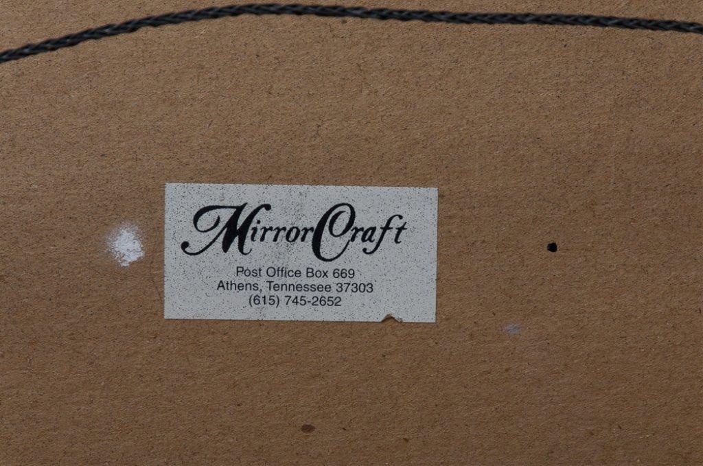 Beveled Mirror w/ Carved Frame - 7